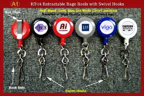 Sample 1 - RT-04 Custom Logo Retractable Swivel HookS
