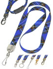 Blue Plaid Lanyards with Cool Blue Plaid, Tartan, Kilt or Scotland Highlander Themes.