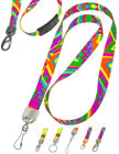 Modern Art Lanyards: Geometric, Abstract, Psychedelic, Trippy, Groovy, Pop Arts Lanyards.