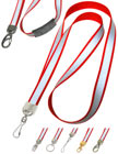 Big Reflective Lanyards: Pre-Printed Reflective 3M Ink Lanyards, Light Reflected In Dark Lanyards.