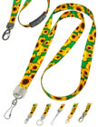 Flower Lanyards: Cool Sunflower Print Lanyards, Sun Flower Patterns Printed Lanyards.