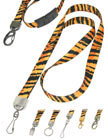 Luxurious Tiger Lanyards: Tiger Print Lanyards, Tiger Stripes or Tiger Pattern Printed Lanyards.