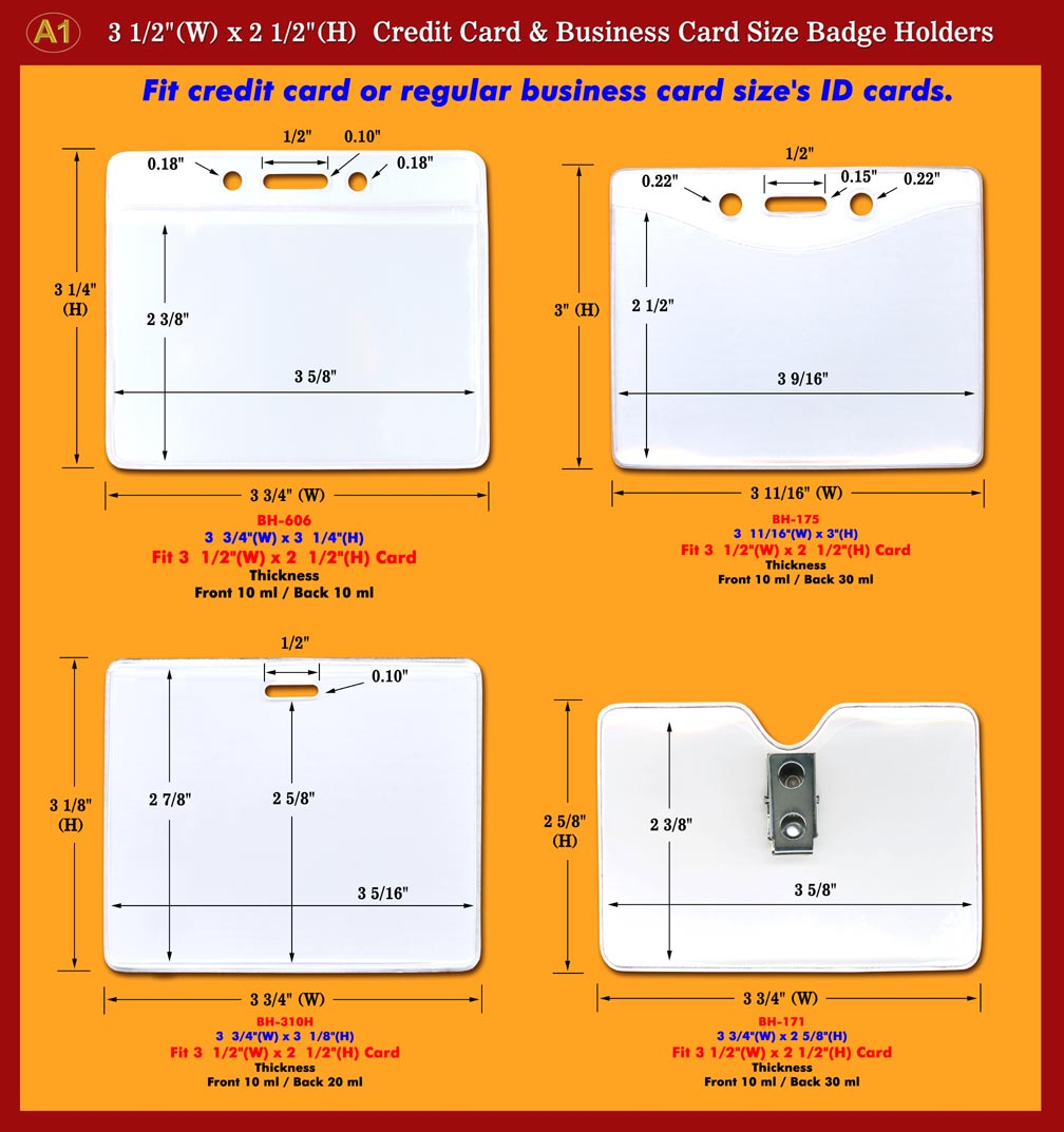 A1 manfacturer of business card size or credit card size name badge business card size or credit card size name badge holders and id holder supply reheart Images